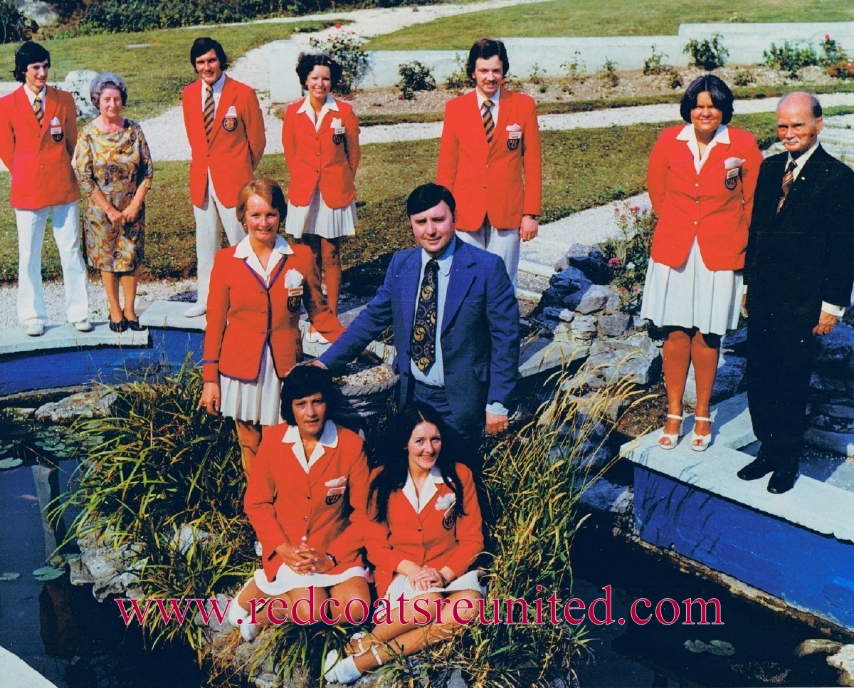 Butlins Brighton 1975 team at Redcoats Reunited CC1