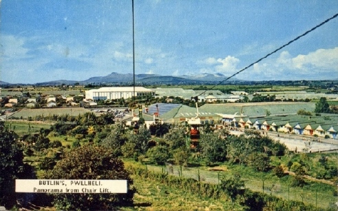 BUTLINS PWLLHELI CHAIR LIFT leaving CAMP