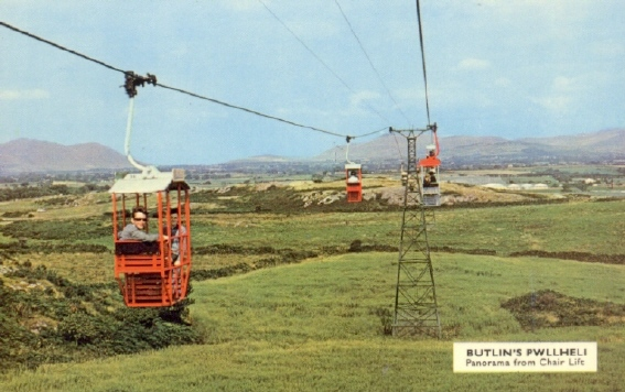 BUTLINS PWLLHELI CHAIR LIFT returning to CAMP