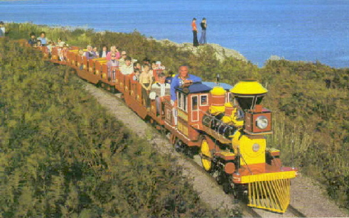 BUTLINS PWLLHELI TRAIN on CLIFF TOP
